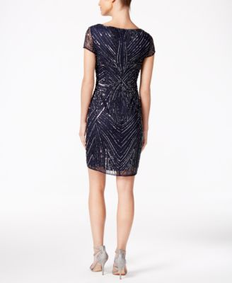 Adrianna Papell Petite Beaded Sequined..