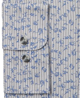 Bar III Mens Slim-Fit Striped Floral D..