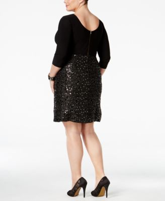 Adrianna Papell Plus Size Sequined A-L..