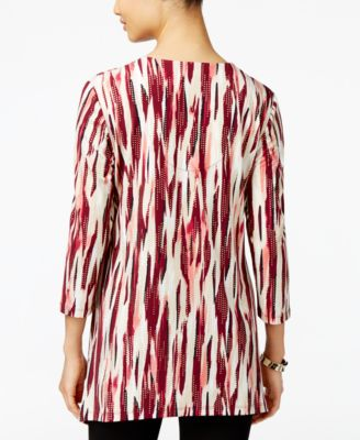 JM Collection Lace-Up Tunic