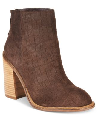 Kelsi Dagger Brooklyn Huron Block-Heel Booties
