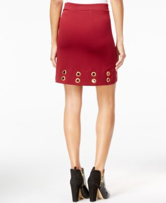 kensie Grommet Pencil Skirt