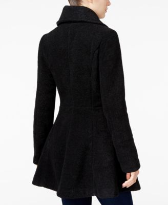 BCX Juniors Double-Breasted Fit & Flare Pea Coat