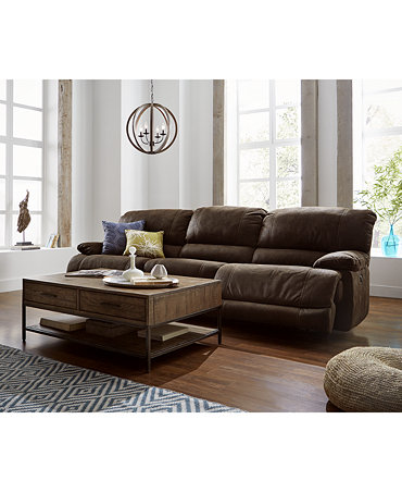 Jedd Fabric Sectional Living Room Furniture Collection Power Reclining Fur