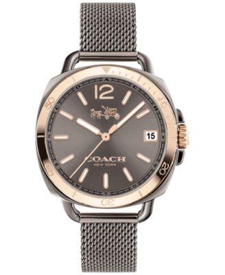 COACH Women's Tatum Gunmetal Stainless Steel Bracelet Watch 34mm 14502634