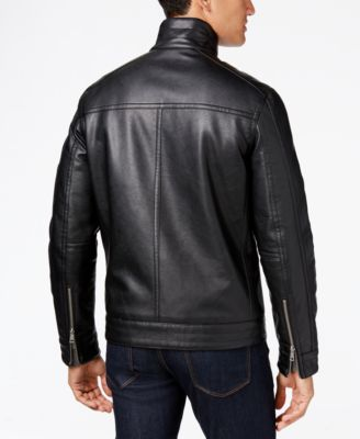 Cole Haan Faux-Leather Jacket