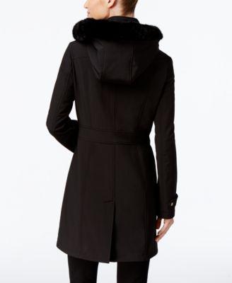 Ivanka Trump Faux-Fur-Trim Hooded Soft..