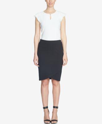 CeCe Tulip-Hem Skirt