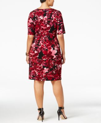 Connected Plus Size Floral-Print Faux-..