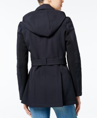 BCBGeneration Hooded Asymmetrical Raincoat