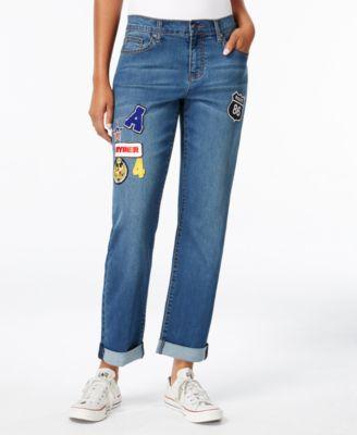 Earl Jeans Patched Boyfriend Jeans