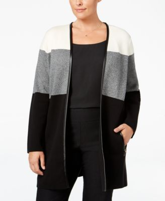 Charter Club Plus Size Milano Colorblocked Duster Cardigan, Only a Macy's