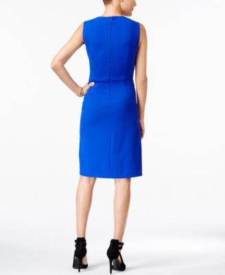 Betsey Johnson V-Neck Ruched Sheath Dr..