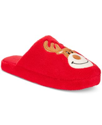 Family Pajamas Womens Reindeer Slippers