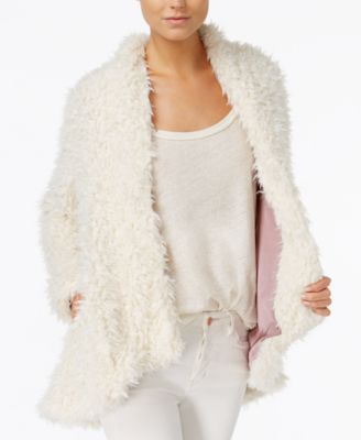 Free People Asymmetrical Faux-Fur Coat