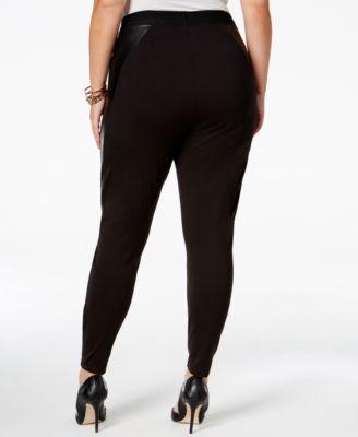 RACHEL Rachel Roy Curvy Trendy Plus Size Faux-Leather Leggings