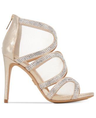 Thalia Sodi Fabiaa Mesh Caged Evening Sandals