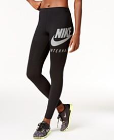 Nike Leggings à logo virgule imprimé Noir
