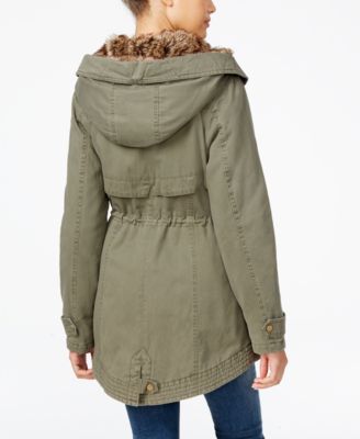 American Rag Faux-Fur-Lined Hooded Utility Parka Only at Macys