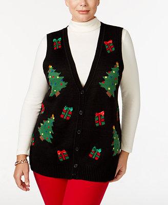 Karen Scott Plus Size Christmas Sweater Vest Only At Macy