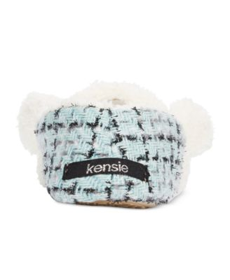 kensie Sparkle Tweed Mouse Critter Sli..