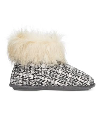 Cuddl Duds Abstract Grid Faux-Fur-Trim..
