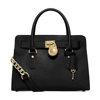 Michael Kors Large Saffiano Hamilton East West Leather Satchel Handbag + $40 Macys Money