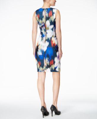 Calvin Klein Blurred Floral-Print Scub..