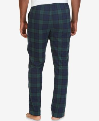 Nautica Mens Tartan Plaid Fleece Pajama Pants