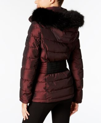 Calvin Klein Faux-Fur-Trim Water Resis..
