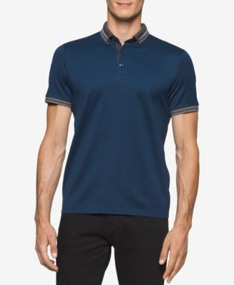 Calvin Klein Mens Antonio Striped-Trim..