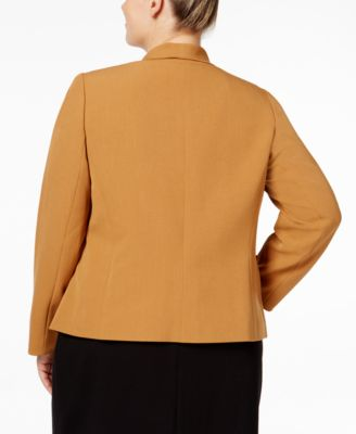 Kasper Plus Size Open-Front Flyaway Jacket