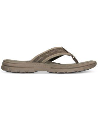 Skechers Mens Bravelen-Seleno Slide Sandals from Finish Line