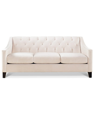 Chloe Velvet Tufted Sofa Only At Macy S Furniture Macy S