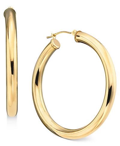 gold hoop earrings 14k gold large polished hoop earrings earrings jewelry 3954