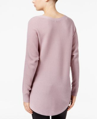 Bar III Ribbed High-Low Sweater