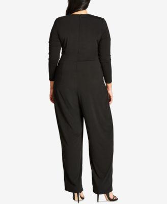 City Chic Trendy Plus Size Necklace Jumpsuit