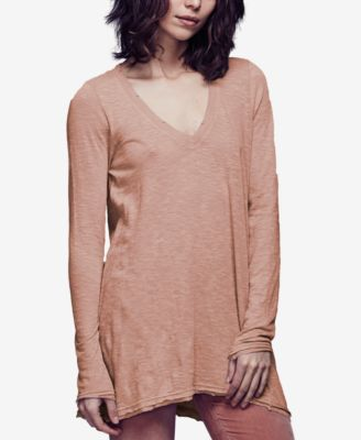 Free People Anna V-Neck Long-Sleeve T-..