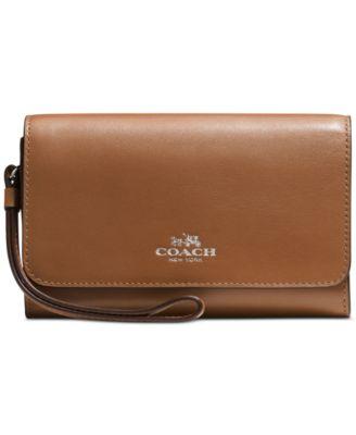 COACH Boxed Phone Clutch in Calf Leather
