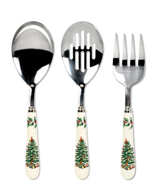 Spode Serveware Christmas Tree 3 Piece Serving Set Fine
