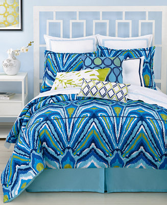 Closeout Trina Turk Blue Peacock Comforter And Duvet