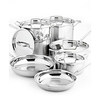 12-Pc Cuisinart Multiclad Pro Tri-Ply Cookware Set + Cuisinart 3-Pc. Nonstick Bakeware Set