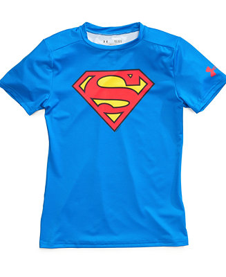 Under armour boys 39 superman alter ego baselayer tee for Under armour shirts for kids