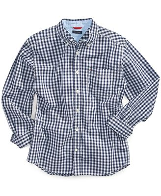 Tommy Hilfiger Little Boys' Baxter Gingham Shirt - Shirts ...