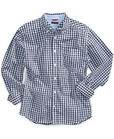 Tommy hilfiger little boys 39 baxter gingham shirt shirts for Cheap tommy hilfiger dress shirts