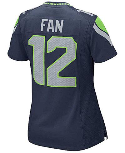 NFL Jersey's Women's Seattle Seahawks Fan 12 Nike White Game Jersey