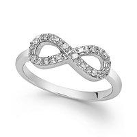 1/10 Carat Diamond Infinity Ring