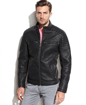 Buffalo By David Bitton Men S Faux Leather Hooded Bomber