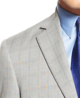 Perry Ellis Portfolio Black and White Glen Plaid Trim-Fit Suit