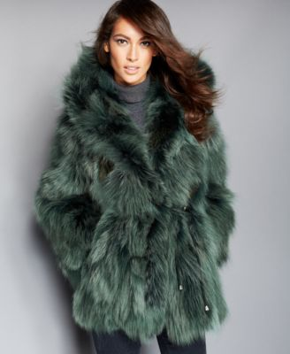 The Fur Vault Hooded Coyote-Fur Parka